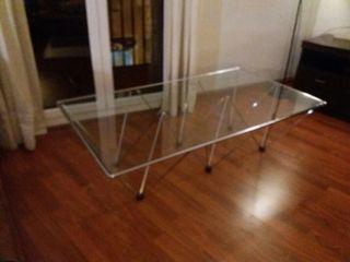 mesa centro cristal 135 x 75