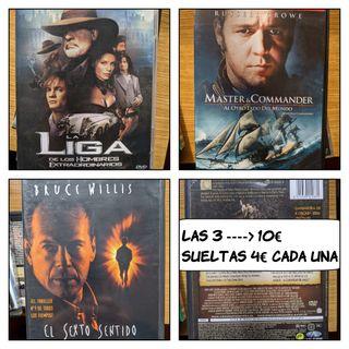 3 películas en DVD