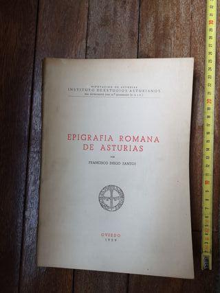 Libro Epigrafía Romana de Asturias 1959