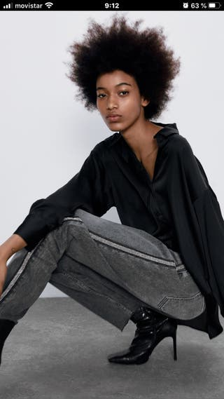 Jeans negros mom fit