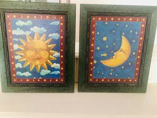 Cuadros sol y luna.
