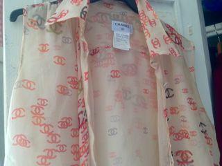 Blusa de seda maison Chanel