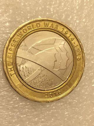 2 pound coin the First World War 1914-1918.