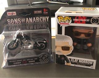 "FUNKO POP ""CLAY"" + MOTO,(HIJOS DE LA ANARQUIA)"
