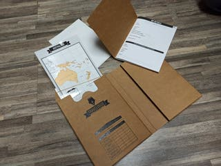 Diario de viaje y mini mapas para rascar