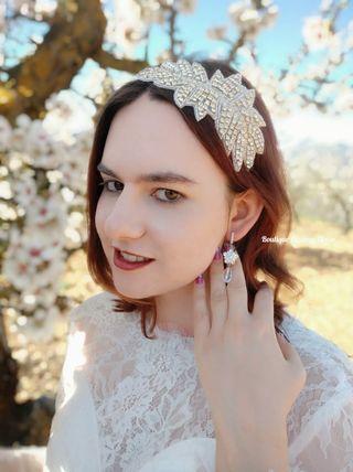 Tiara de novia ,invitada , Tocado joya diadema