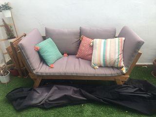 Sofá de jardín de segunda mano en Madrid en WALLAPOP