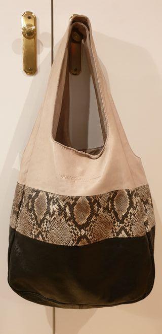Bolso HAKEI piel de calidad, grande, tipo Tote bag