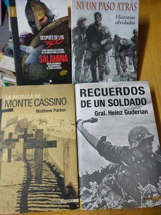 Libros guerra NUEVOS pack rebajado