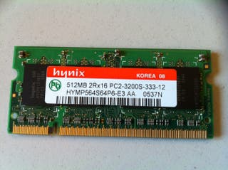 Memoria RAM DDR 512MB SO-DIMM hynix