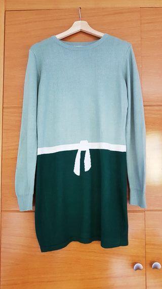 Vestido de punto verde de kling talla 40