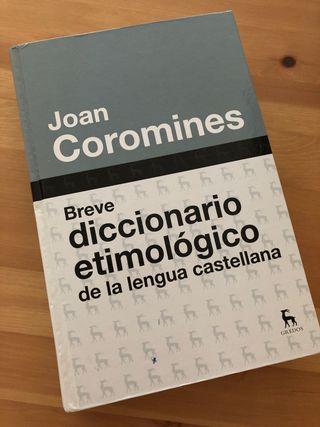Diccionario etimológico Coromines