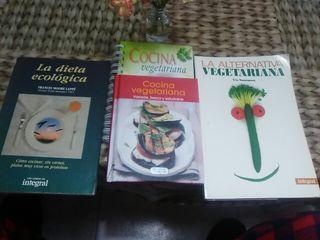 Lote de libros sobre Vegetarianismo
