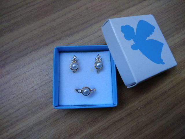 Conjunto oro Pendientes y anillo