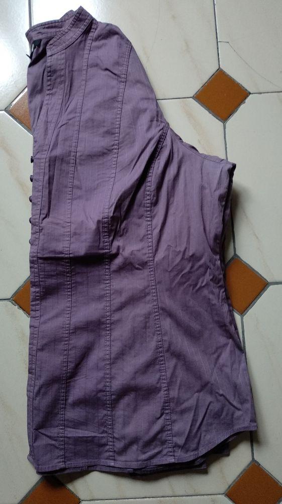 Camisa de mujer de manga larga de color malva