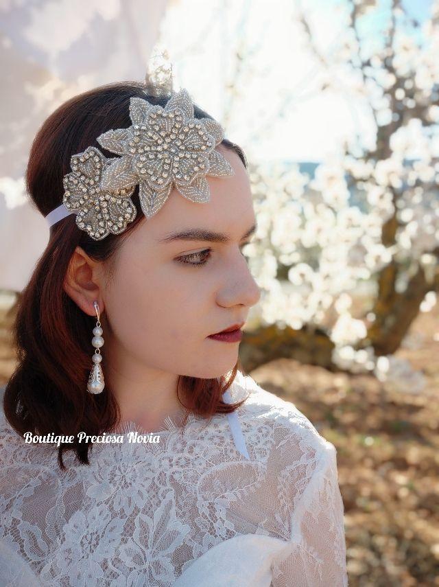 Oferta Tiara + Pendientes para novia niña comunión