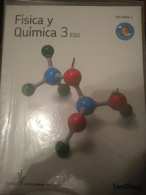 libro fisica y quimica. 3° Eso Santinalla