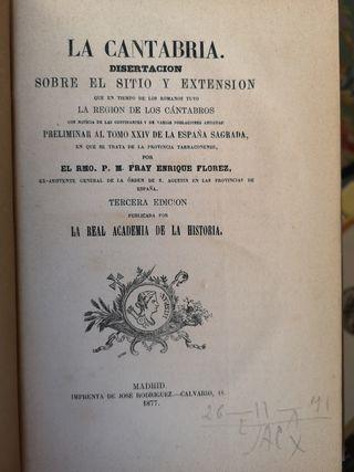 Libro La Cantabria en tiempos romanos. Florez 1877
