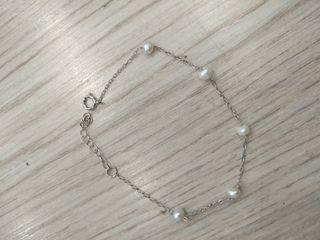Collar y pulsera perlitas cultivadas plata de ley