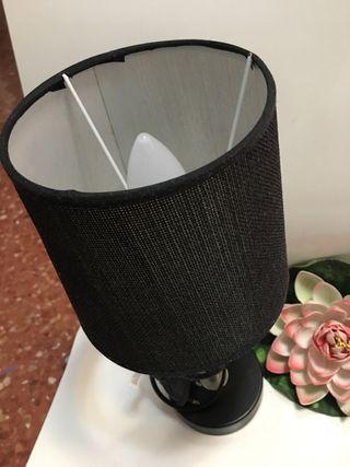 Lámpara de pie negra