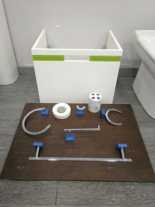 mueble de baño sin pila