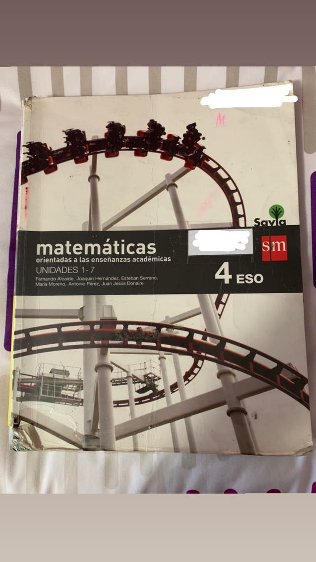 Libros matemáticas académicas 4 ESO