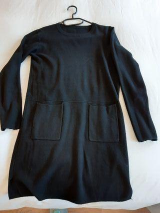 Vestidos de manga larga en gris y negro
