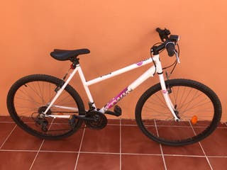 Bicicleta de montaña Rockrider 300 blanca