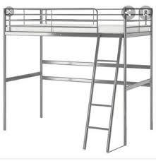 Litera de aluminio IKEA + colchón+ mesa de noche