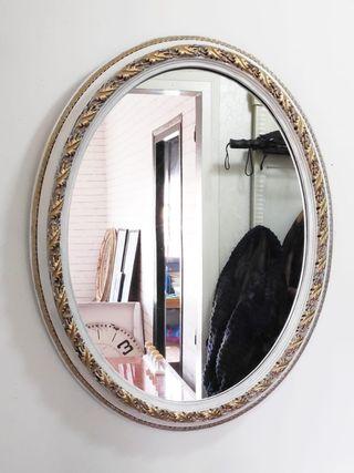 espejo vintage ovalado