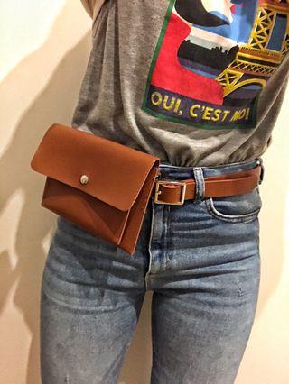 Bolsa-cinturón / riñonera PIEL