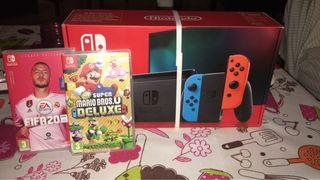 Nintendo switch (modelo nuevo) más dos juegos