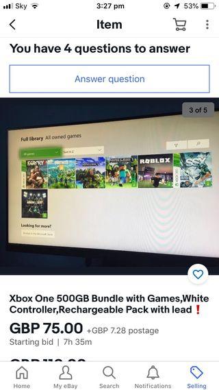 Xbox one bundle need gone asap