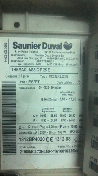 Saunier Duval THEMACLASSIC F 25 E