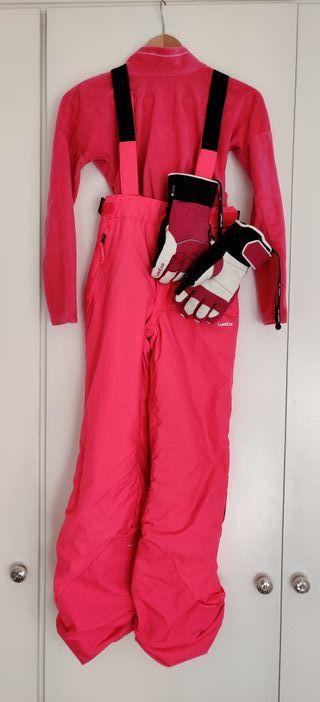 Conjunto de ropa esquí niña