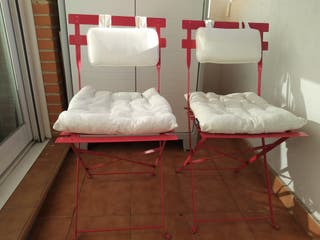conjunto dos sillas de terraza