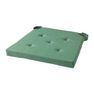 4 cojines de silla algodón verde interior/exterior