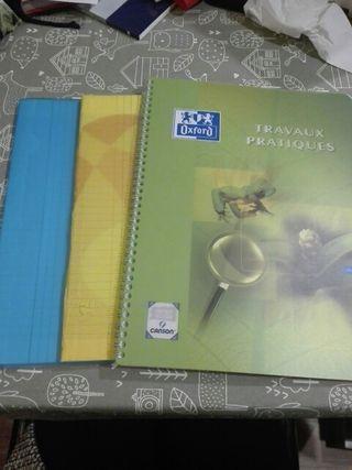 pack 3 libretas uso escolar