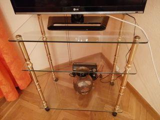 Mesa televisión de cristal