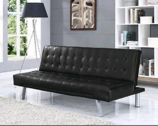 fouton black sofa bed