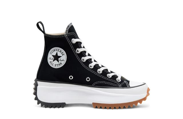 Run Star Hike Hightop Converse in Black