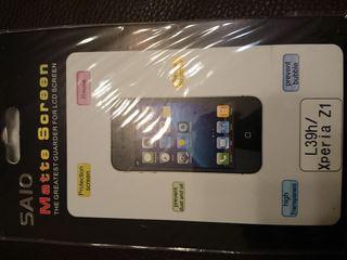 Funda y protector de pantalla Sony Xperia Z1
