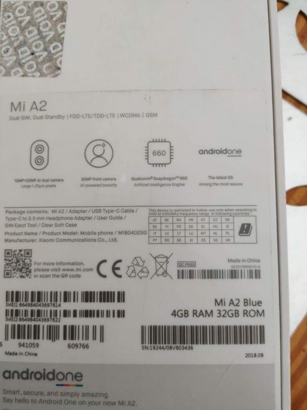 Xiaomi A2 4 GB RAM 32 almacenamiento