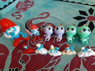 Muñecos varios Pitufos Minnie Snoopy