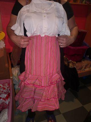 traje de flamenca rociera