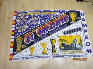 BANDERA FUTBOL REAL MADRID..
