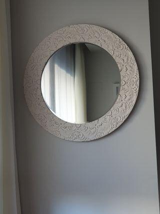 espejo de pared redondo 80 cm
