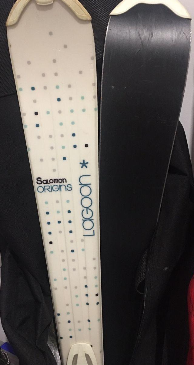 Esquís Salomón mujer 150cm con fijaciones