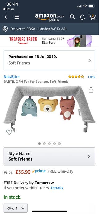 BABYBJÖRN Toy for Bouncer