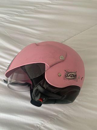 Casco moto rosa XS